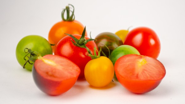 Bunte Cherry Tomaten Mix Kiste